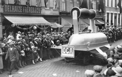 Strijkijzerwagen batjesstoet, 1953