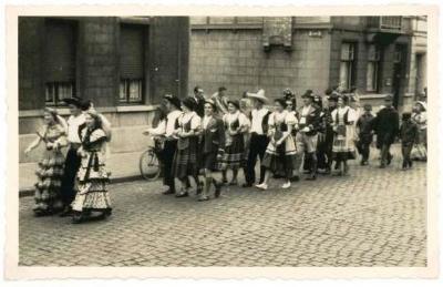 Batjesstoet, Noordstraat, Roeselare, 1953