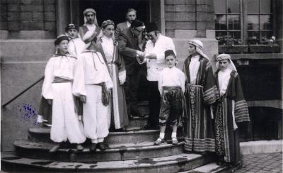 Koning Faroek, stadhuis Roeselare, 1953