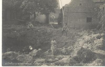 Resultaat van een bomaanval, Hooglede