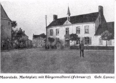 Gemeentehuis Moorslede, februari 1917