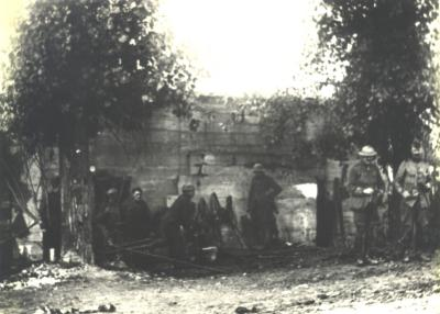 Soldaten aan het werk, Moorslede