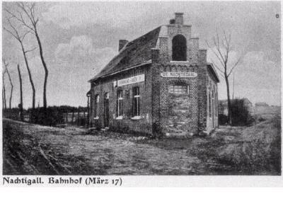 Station De Nachtegaal, maart 1917, Moorslede