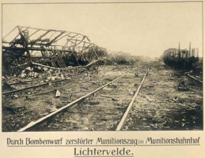 Spoorweg na bombardement, WO I