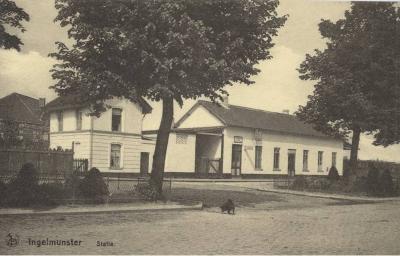 Zicht op station, Ingelmunster, ca 1910