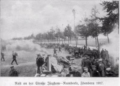 Rustplaats van troepen in Izegem-Rumbeke
