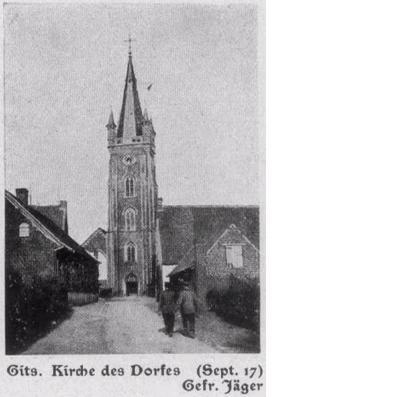 Dorpskerk van Gits (september 1917)