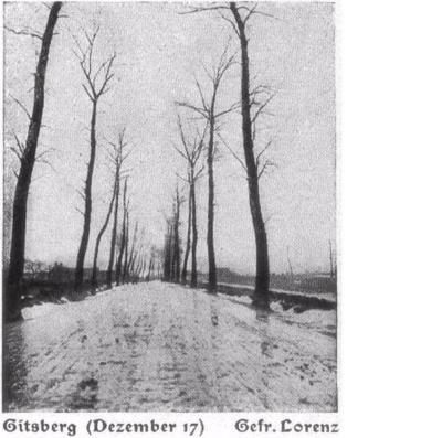 Winterlandschap december 1917, Gitsberg, Gits