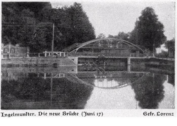Nieuwe brug Ingelmunster, juni 1917
