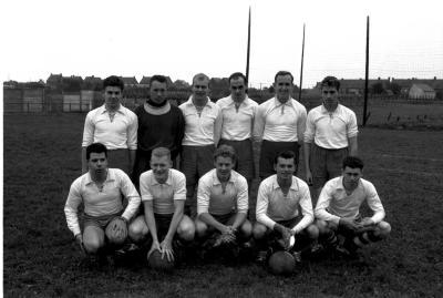 Voetbalwedstrijd F.C. Knokke - S.V. Ingelmunster, Izegem, 1958