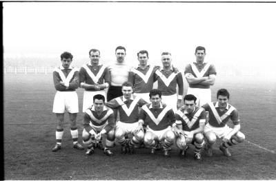 Voetbalwedstrijd Schaarbeek-F.C. Izegem, Izegem, 1958