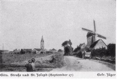 Straat naar St.-Jozef, Gits, september 1917