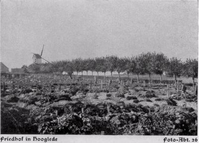 Duitse militaire begraafplaats in Hooglede, 1917