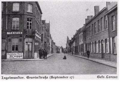 Gravinnestraat, Ingelmunster, september 1917