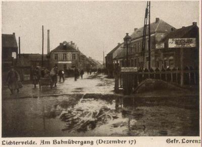 Spoorwegovergang, december 1917, Lichtervelde