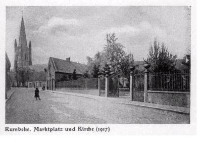 Markt en kerk van Rumbeke, 1917