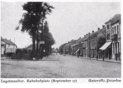Stationsplein Ingelmunster, september 1917