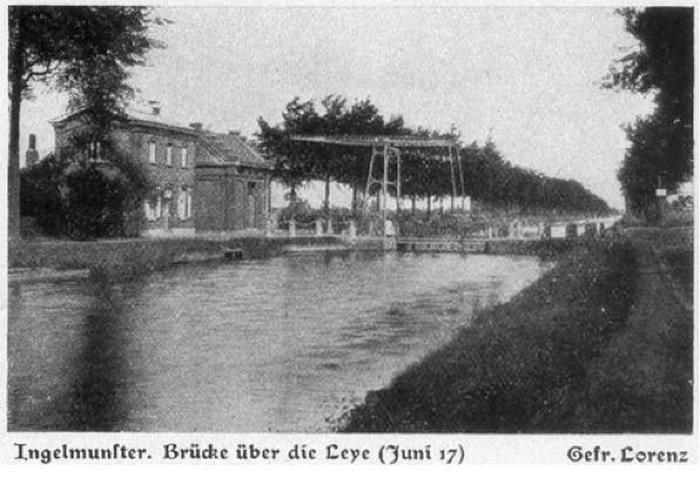 Brug over Leie, Ingelmunster, juni 1917