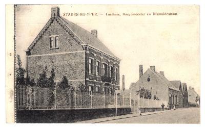 STADEN-BIJ-YPER. - Lusthuis, Burgemeester en Dixmuidestraat.