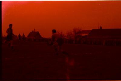 fase voetbalwedstrijd Sint Eloois Winkel- Dadizele, 1958