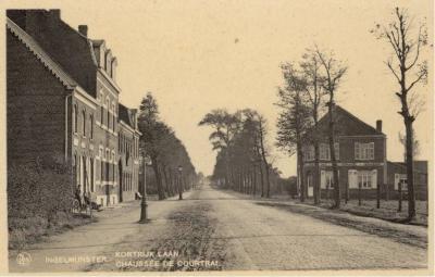 Zicht op de Kortrijkstraat, Ingelmunster, ca 1910
