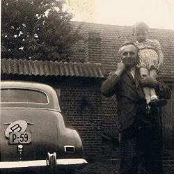 Burgemeester Lievens en zoon, 1950
