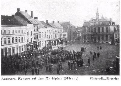 Concert op Grote Markt Roeselare, maart 1917