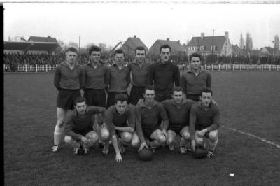 Voetbalwedstrijd Eeklo-FC Izegem, Izegem, 1958