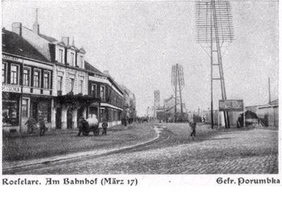 Station Roeselare, maart 1917