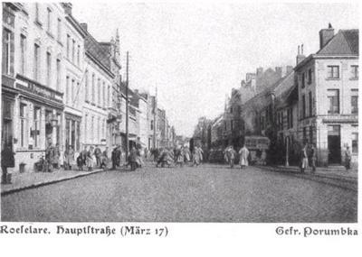 Centrum Roeselare, maart 1917