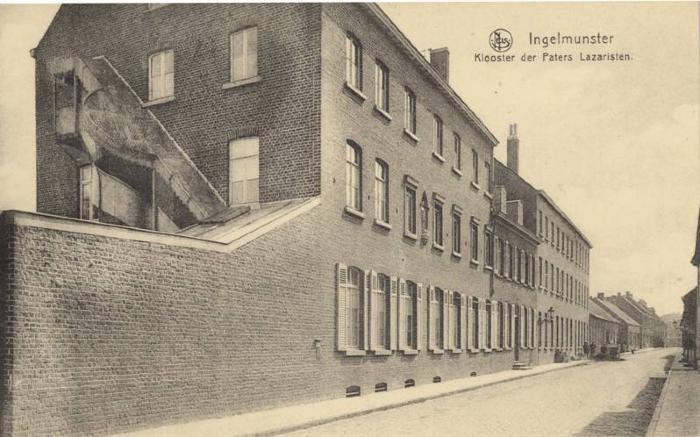 Het klooster van de Paters Lazaristen, Weststraat, Ingelmunster, ca 1910