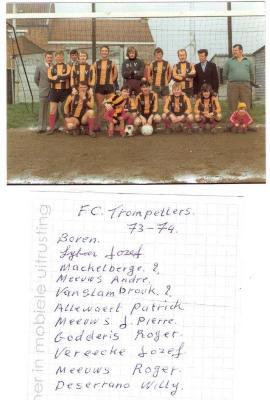 Voetbalploeg FC Trompetters, 1973-1974
