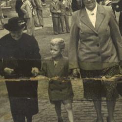 Rik Vansteeland en moeder, 1950