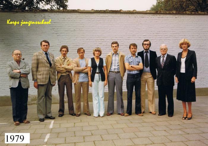 Lerarenkorps jongensschool Beveren, 1979