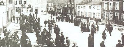 De markt van Beveren-Roeselare, 1910
