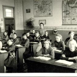Schoolfoto 8ste leerjaar, 1958
