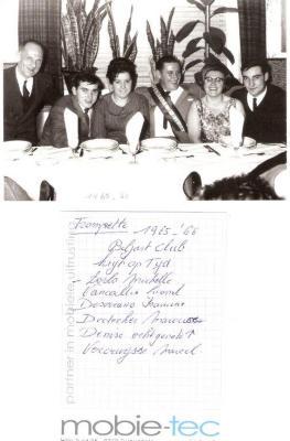 Biljartclub 'Krijt op Tijd', 1965-1966