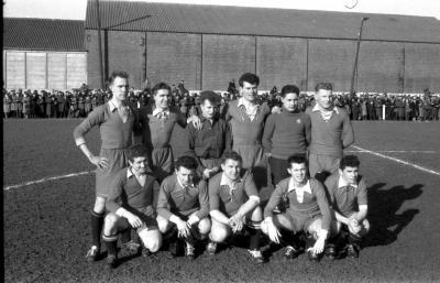 Voetbalwedstrijd Meulebeke-Ledegem, Izegem, 1958