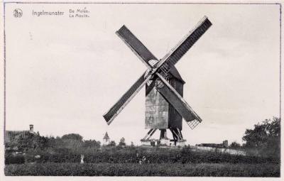 Kasteelmolen, Ingelmunster, ca 1940.