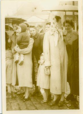 Bezoek bisschop Beverensesteenweg, Beveren, 1951-1952?