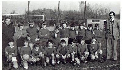 Klasfoto voetbal, begin jaren '70
