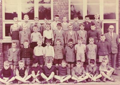 Klasfoto jongensschool, Gits, 1957