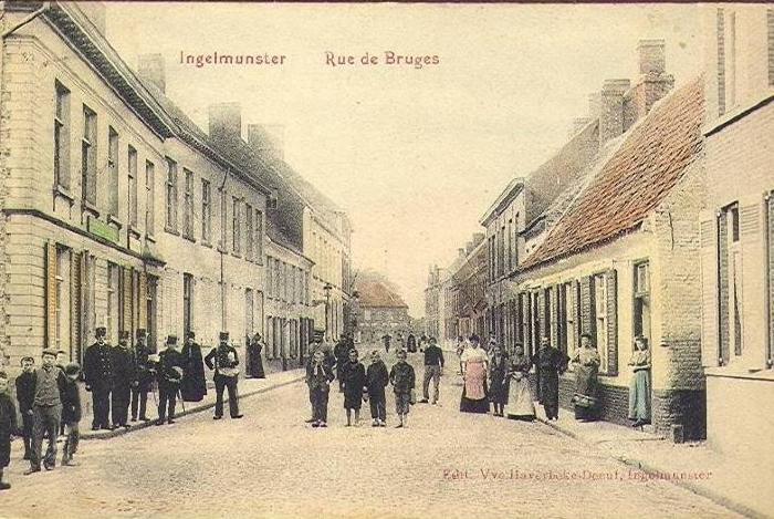 Bruggestraat, Ingelmunster, ca 1905
