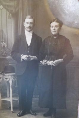 Huwelijk Elisa-Maria Claeys en Leon Werbrouck, Gits