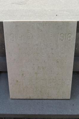 Gedenksteen vuurkruiser J. Vandermarcke, Hooglede