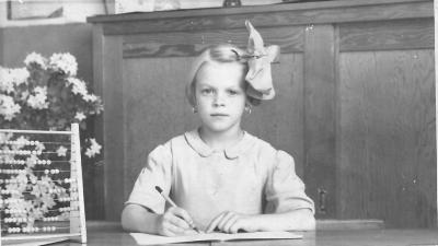 Schoolfoto Lucrèse De Cuyper, Gits, 1940