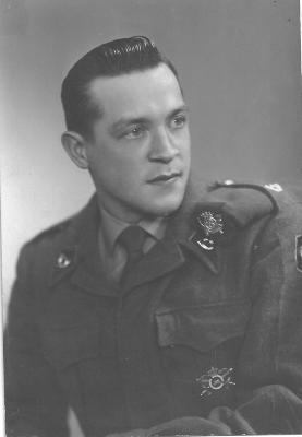 Elmar De Cuyper in soldatenuniform