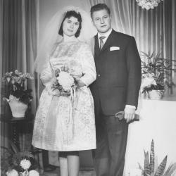 Huwelijksfoto André Roose en Marie-José Hallaert