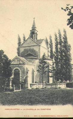De kapel van het kerkhof, Ingelmunster, ca 1905