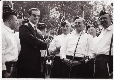 Bezoek Koning Boudewijn en Koningin Fabiola, Ingelmunster, 3 juli 1964